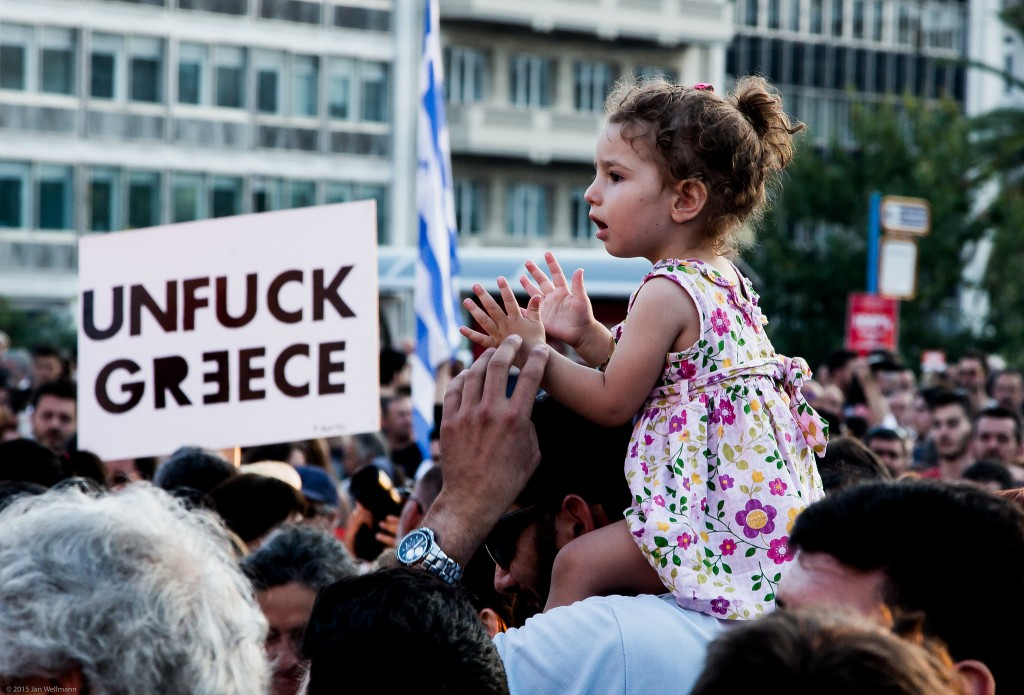 Anti-austerity demonstrations in Athens (copyright Jan Wellmann)