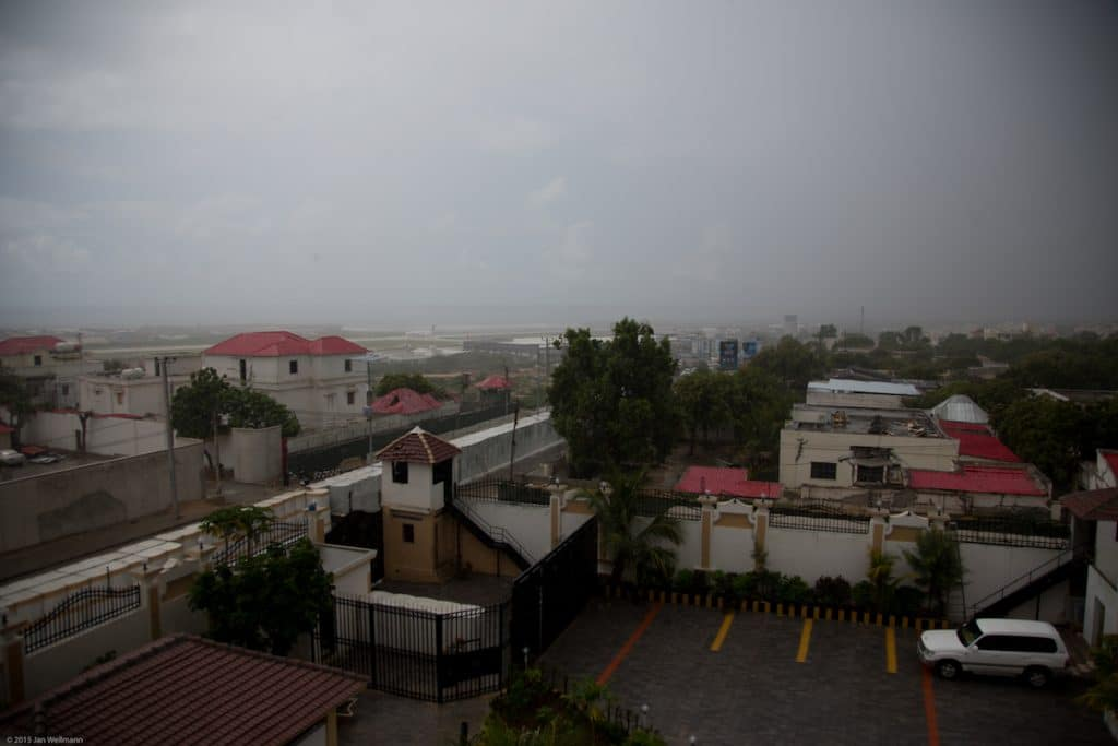 View from Hotel Al Jazeera towards the Mogadishu International Airport